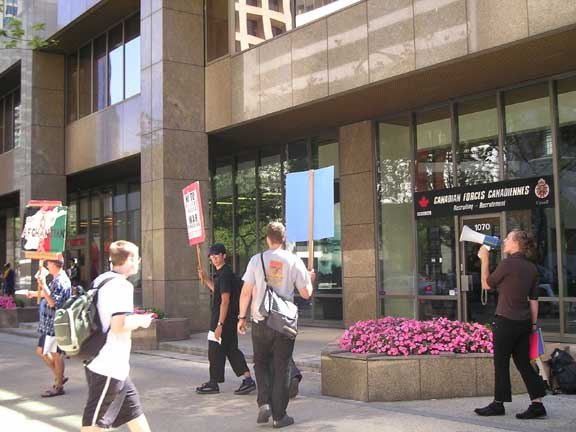 Operation Canada Out Campaign Picket July 21st 2005