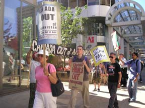 Operation Canada Out Campaign Picket July 28th 2005