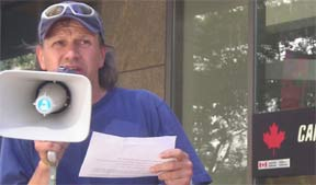 Dave Diewert Bringing a Message of Solidarity with Afghan People, July 28, 2005