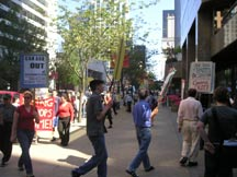 August 11 MAWO Picket at Canadian Armed Forces Recruitment Center