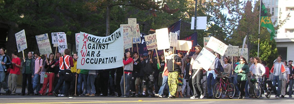 Antiwar Protesters Take to the Streets