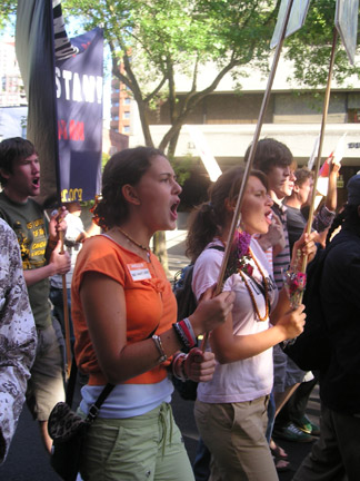 Students Marching Against War & Occupation on September 24