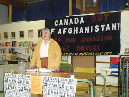 Barb Biley of the Comox Valley Peace Group