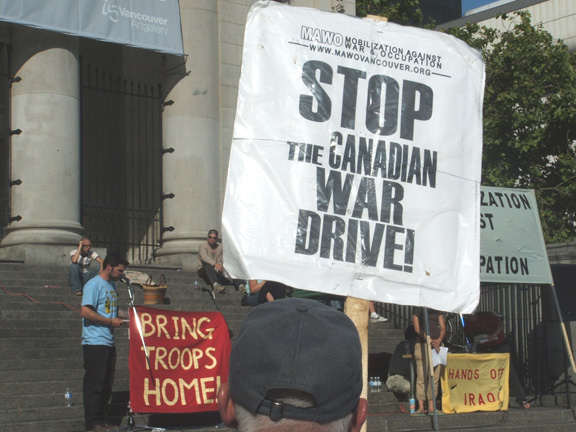 Stop the Canadian War Drive!