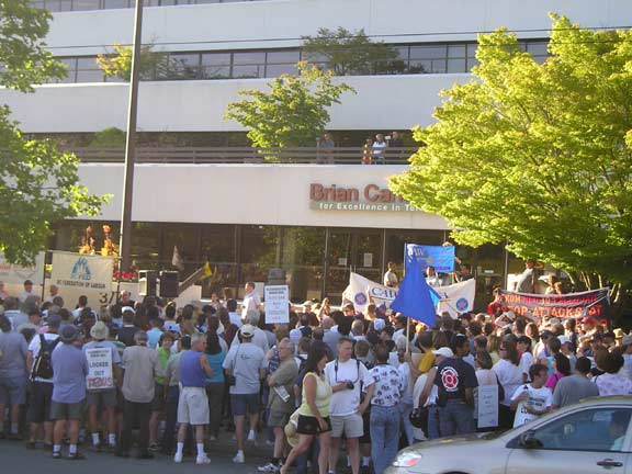 Telus Workers Rally, July 28, 2005