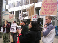 Emergency Picket in Response to death of Canadian Soldiers in Afghanistan. March 13 2006.